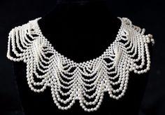 Victorian Pearl Collar Necklace