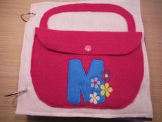 Purse Quiet Book Page with or without monogram by BusyBookBuilders