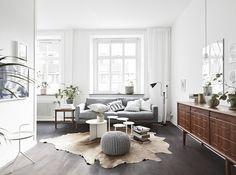 A striking dark and white Swedish space