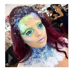 M E R M A I D 🐬 @glowbycaitlin created this beautiful look at @poutpatrol using #mehron metallic powder in #silver #mermaid #mermaidmakeup #mehronmakeup #beauty #glitter #makeup #glittermakeup #mua #makeupartist #manchester #halloweenmakeup #halloweencostume