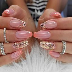 12 Nail Design & Art Ideas For Women 2019 - Trending Beauty Artist Work - Katty Glamour Gel Nail Art Designs, Pretty Nail Designs, Pretty Nail Art, Unique Nail Designs, Awesome Designs, Cute Acrylic Nails, Cute Nails, Pink Nails, Gel Nails