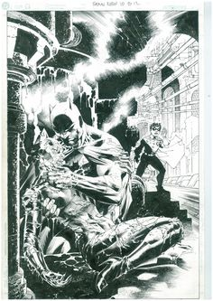 All Star Batman And Robin Issue 10 Page 12 by Frank Miller, Jim Lee and Scott Williams. Comic Art Splash page.