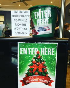 Enter at Men Only Hair Design for your chance to win 12 months worth of haircuts!  Drawn on 18th December. #menonlyhair #men #hair #christmas #gift #warrnambool #shop3280 #salon by menonlyhair