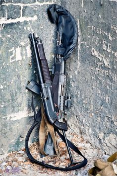 AK-74M and KS-23 (23mm Shotgun)