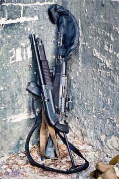 AK-74M and KS-23 (23mm Shotgun) #gun #guns #rifle #m4 #ar15 #229 #rounds #clip #bolt #laser #scope #carbine #guns #gun #handguns #rifles #bullets #hunting #gunsandhunting