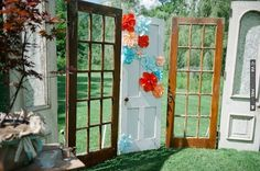 This couple repurposed old door frames to use as ceremony decor. Such a great idea! | CHECK OUT MORE IDEAS AT WEDDINGPINS.NET | #weddings #uniqueweddingideas #unique