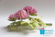 Clover brooch four leaf clover shamrock by PresentPerfectStudio