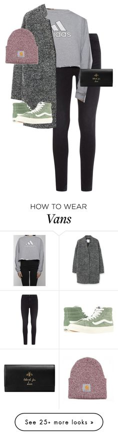 """""""Untitled #13280"""" by alexsrogers on Polyvore featuring rag & bone, adidas, MANGO, Vans and Gucci"""