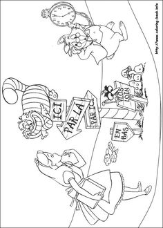 150 best Alice in Wonderland Coloring Pages images on Pinterest in ...
