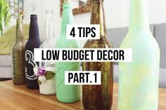 4TIPS LOW BUDGET DECOR (part.1) RECYCLED GLASS BOTTLES