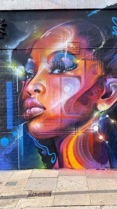 Graffiti Wall Art, Graffiti Painting, Graffiti Lettering, Mural Painting, Mural Art, Street Art Banksy, Murals Street Art, Urban Street Art, Best Street Art
