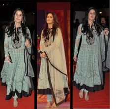 Bollywood Celebrities in Designer Anarkali Dresses 2015 Pics - Vega Fashion Mom