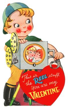 This is the cutest Valentines ever! Vintage and a cheesy message, you can't really ask for anything better