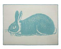 Bunny Alpaca Blanket design reverse