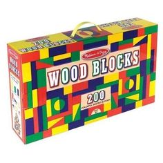 Melissa & Doug 200 Wood Blocks Set