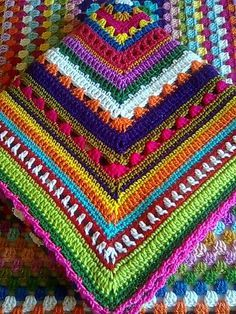 * Translate - I want to use my left over yarn.. crochet blanket with a mix of stitches
