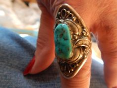 size 11 half turquoise ring Native American Jewelry Native American quarter horse  Texas horse jewelry Navajo jewelry sterling silver by LittleCherokeeValley on Etsy