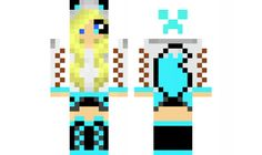 minecraft skin edited-tomboy-wolf-girl