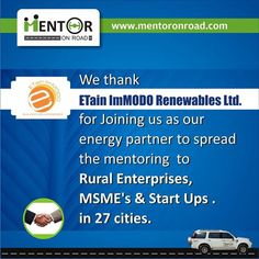 4 days to go, for mentor on road journey to start.......