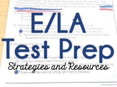 Strategies and resources for ELA test prep for the PARCC, ISTEP, and IREAD.