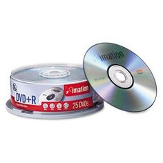 DVD+R Discs, 4.7GB, 16x, Spindle, Silver, 25/Pack by TDK. $23.91. High storage capacity holds seven times more data than a full-size CD-R. Premium metal azo dye in recording layer ensures better performance. Write-once format provides permanent recording
