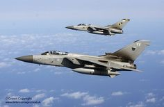 Royal Air Force F3 Tornado transit from the UK to Nellis Air Force Base in the…