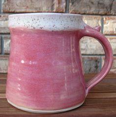 Breast Cancer Ceramic Coffee Mug 14oz by Extrudergirl on Etsy, $18.00