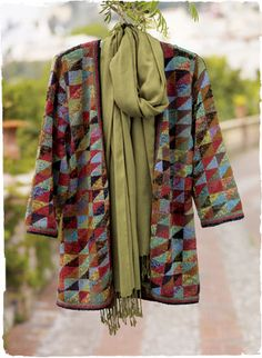A well done cross between patchwork & clothing... Pima Cotton Origami Kimono