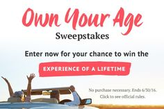 NEW!! Win 1 of 3 grand prize trips, $10,000, or $20 Amazon gift cards! Ages 21+ http://www.freebiequeen13.net/aarp-sweepstakes.html #DisruptAging #sweepstakes #win