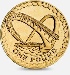 2007 'Gateshead Millennium Bridge' (with a border of struts) £! (One Pound) Coin #CoinHunt