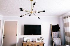 Modern Brass // Utah Product Photography // Amy Hirschi // Travel Themed Living Room // Blanket Ladder