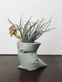 ·시멘트 아트 - 꽃병