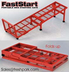 The first portable, foldable practice starting gate of its kind endorsed and tested by the 2016 Rio Summer Games BMX Olympic Gold Medalist - Connor Fields