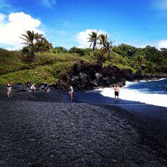 Black sand - Hana, HI