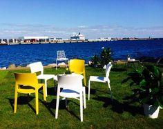 Arper showroom in Nordhavnen, DK in september 2014 Juno and Leaf chairs