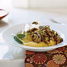 Vegetarian Holiday Recipes   Soft Polenta with Wild Mushroom Sautè   CookingLight.com
