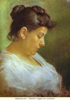 Pablo Picasso. Portrait of the Artist's Mother. 1896. Pastel on Paper. Museo Picasso, Barcelona, Spain
