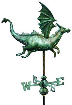 The Castle Guardian Dragon Full-Size Copper Weathervane