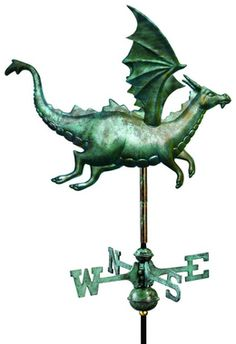 A full-size copper dragon weathervane as guardian of my next castle. $449.00