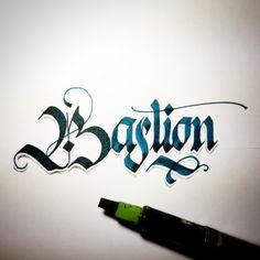 by SevenSeventyFive (Andrew Kelly) #blackletter #ink #lettering #art #handstyles #handmade #handwritten