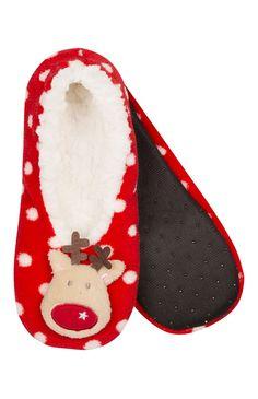 Primark - Christmas Sherpa Ballet Slippers