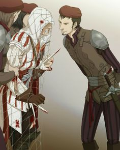 You  caught Ezio! *Doubleleaf on Deviantart