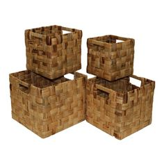 Lovely square storage baskets.