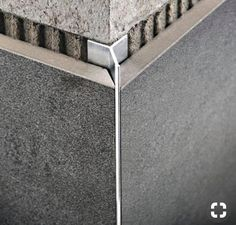 alu u profil aluprofil unterputzprofil mm chromoptik Floor Design, Home Design, Detail Architecture, Tile Edge, Joinery Details, Tile Trim, Toilet Design, Bathroom Interior, Bathroom Ideas