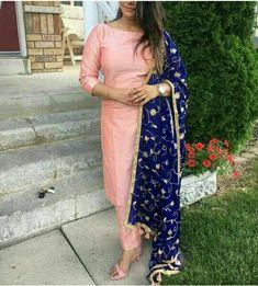 Image may contain: 2 people, people standing Silk Kurti Designs, Salwar Designs, Kurta Designs Women, Kurti Designs Party Wear, Dress Indian Style, Indian Dresses, Indian Outfits, Indian Wear, Western Outfits