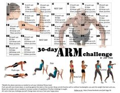 30-Day Arm Challenge. Exercises. Exercise. Workout. Work out.