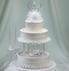 Walmart 3 Tier Wedding Cakes | Whole whte wedding cake with three tier photos