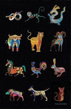 Complete Set of 12 Chinese Zodiac Animal. Chinese Astrology, Chinese Zodiac Signs, Chinese Zodiac Rabbit, Chinese Zodiac Dragon, Dragon Zodiac, Zodiac Art, 12 Zodiac, Snake Zodiac, Zodiac Traits
