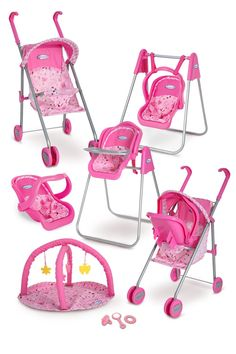 Graco Play Set - Stroller with Canopy, Swing / High Chair, Playgym, Baby Monitors and 3 Piece Accessories Baby Doll Nursery, Baby Doll Toys, Baby Alive Dolls, Baby Doll Clothes, Little Girl Toys, Toys For Girls, Kids Toys, Little Girls, Girls Fun