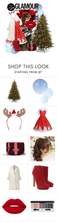 """Christmas Glamour"" by djsniper ❤ liked on Polyvore featuring Santa's Workshop, Goody, Pin Show, Olympia Le-Tan, Alexander McQueen and Lime Crime"